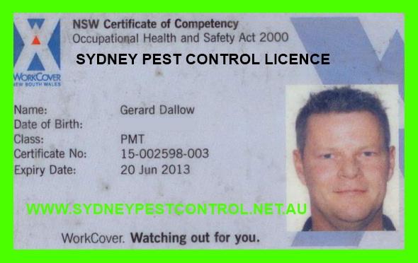 Sydney pest-control-licence Chatswood